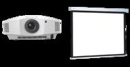 Videoproiectoare Videoproiector Sony VPL-HW45 + COMPACT RF ELECTROL 16:9, panza Matte White 173x300cm Videoproiector Sony VPL-HW45 + COMPACT RF ELECTROL 16:9, panza Matte White 173x300cm