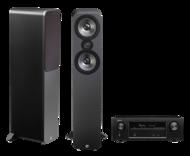 Pachete PROMO STEREO Q Acoustics 3050 + Denon AVR-X1300WQ Acoustics 3050 + Denon AVR-X1300W