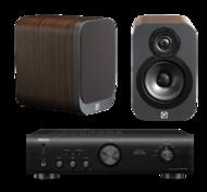 Pachete PROMO STEREO Q Acoustics 3010 + Denon PMA-520AEQ Acoustics 3010 + Denon PMA-520AE
