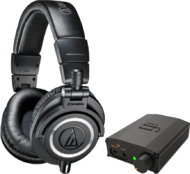 Pachete PROMO Casti si AMP Audio-Technica ATH-M50x + iFi Nano iDSD BlackAudio-Technica ATH-M50x + iFi Nano iDSD Black