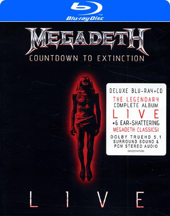 DVD & Bluray BLURAY Universal Records Megadeth - Countdown To Extinction LiveBLURAY Universal Records Megadeth - Countdown To Extinction Live