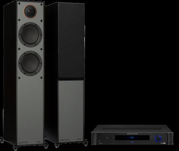 Pachete PROMO STEREO Pachet PROMO Monitor Audio Monitor 200 Black Cone + Emotiva BasX TA-100Pachet PROMO Monitor Audio Monitor 200 Black Cone + Emotiva BasX TA-100