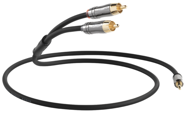 Cabluri audio  QED - Performance J2P Graphite (jack 3.5mm - RCA) QED - Performance J2P Graphite (jack 3.5mm - RCA)