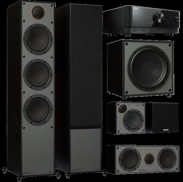 Pachete PROMO SURROUND Pachet PROMO Monitor Audio Monitor 300 Black Cone pachet 5.1 + Yamaha RX-V4APachet PROMO Monitor Audio Monitor 300 Black Cone pachet 5.1 + Yamaha RX-V4A