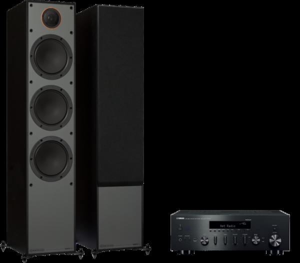 Pachete PROMO STEREO Pachet PROMO Monitor Audio Monitor 300 Black Cone + Yamaha R-N602Pachet PROMO Monitor Audio Monitor 300 Black Cone + Yamaha R-N602