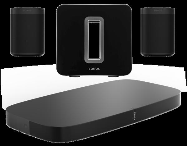 Boxe Amplificate Sonos Playbase + 2 x Sonos One SL + Sonos SUBSonos Playbase + 2 x Sonos One SL + Sonos SUB