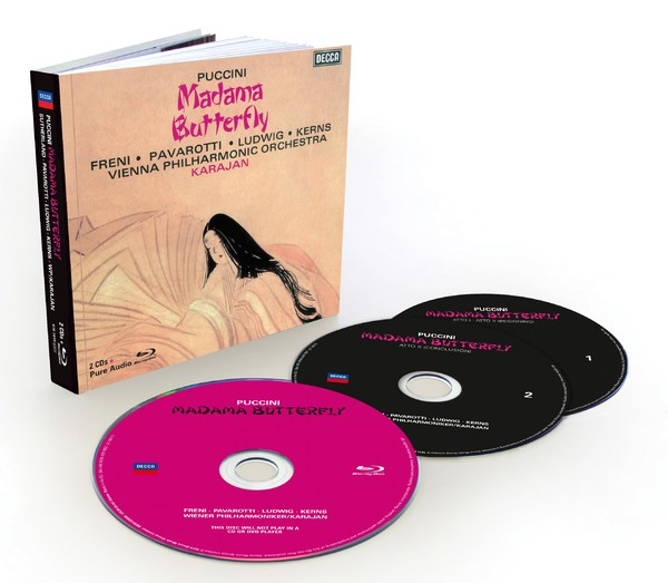 Muzica CD CD Decca Puccini: Madama Butterfly ( Karajan - Freni, Pavarotti, Ludwig ) CD + BluRay AudioCD Decca Puccini: Madama Butterfly ( Karajan - Freni, Pavarotti, Ludwig ) CD + BluRay Audio