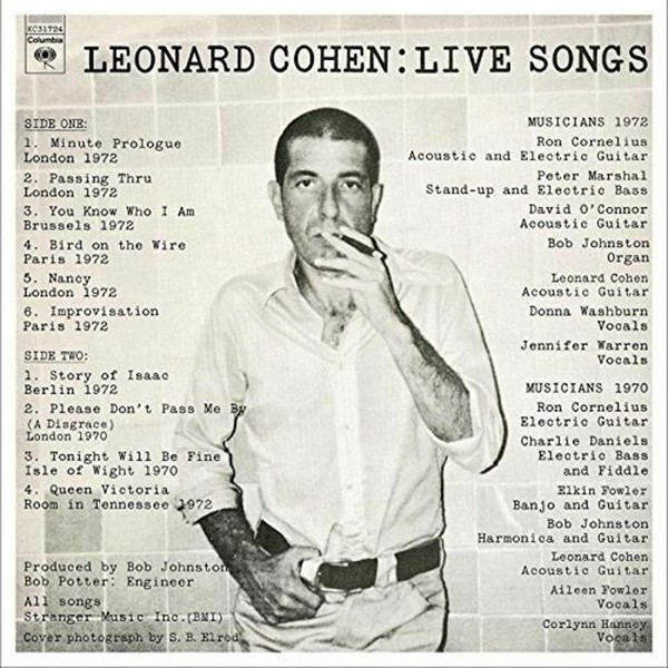 Viniluri VINIL Universal Records Leonard Cohen - Live SongsVINIL Universal Records Leonard Cohen - Live Songs