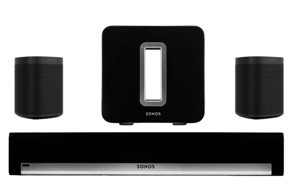 Boxe Amplificate Sonos Playbar + 2 x Sonos One SL + Sonos SUBSonos Playbar + 2 x Sonos One SL + Sonos SUB