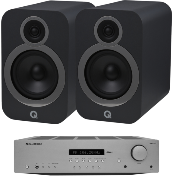 Pachete PROMO STEREO Pachet PROMO Q Acoustics 3030i + Cambridge Audio AXR100Pachet PROMO Q Acoustics 3030i + Cambridge Audio AXR100