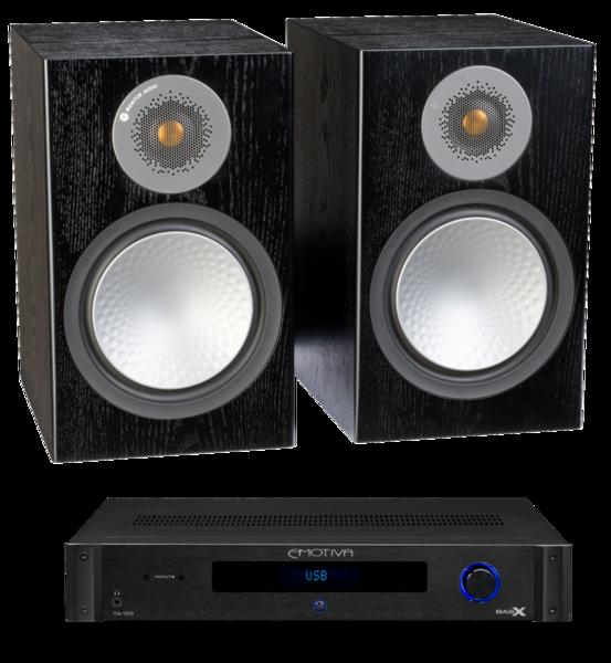 Pachete PROMO STEREO Pachet PROMO Monitor Audio Silver 100 + Emotiva BasX TA-100Pachet PROMO Monitor Audio Silver 100 + Emotiva BasX TA-100