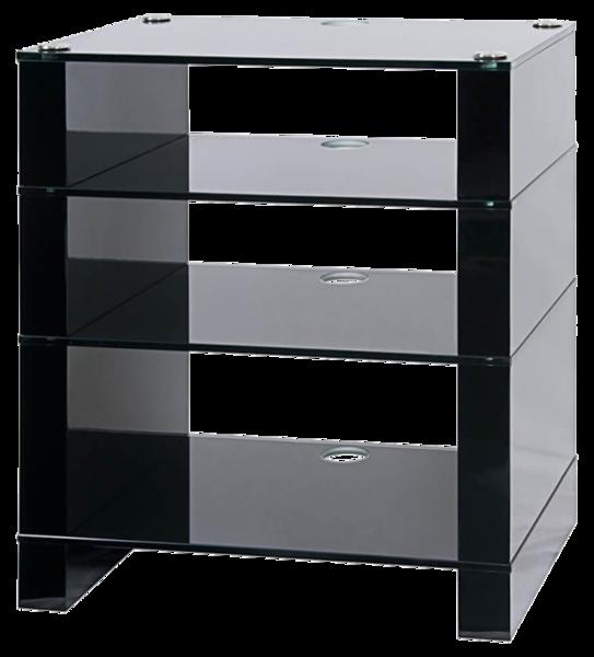 Rack-uri HiFi Blok Stax 400, sticla neagraBlok Stax 400, sticla neagra
