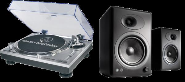 Pick-up Pickup Audio-Technica AT-LP120USB + Audioengine A5+Pickup Audio-Technica AT-LP120USB + Audioengine A5+