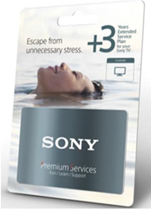 Accesorii Sony Extensie garantie 3 ani pentru TVSony Extensie garantie 3 ani pentru TV