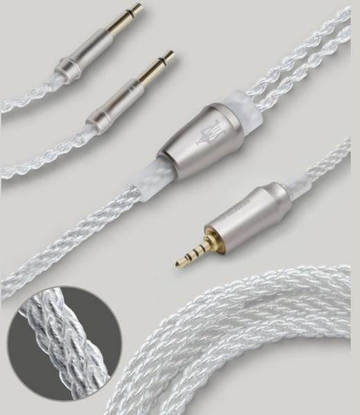 Accesorii CASTI Meze Cablu balansat 4.4mm Pentacon cupru argintat 99 ClassicMeze Cablu balansat 4.4mm Pentacon cupru argintat 99 Classic