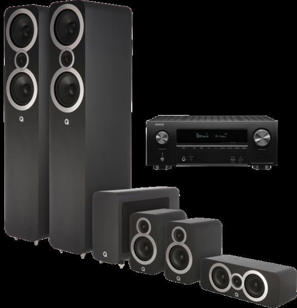 Pachete PROMO SURROUND Pachet PROMO Q Acoustics 3050i pachet 5.1 + Denon AVR-X2600HPachet PROMO Q Acoustics 3050i pachet 5.1 + Denon AVR-X2600H