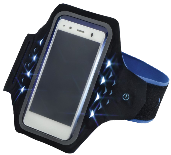 Accesorii CASTI Hama Active Sports Arm Band Smartphone cu LED-uri XXLHama Active Sports Arm Band Smartphone cu LED-uri XXL