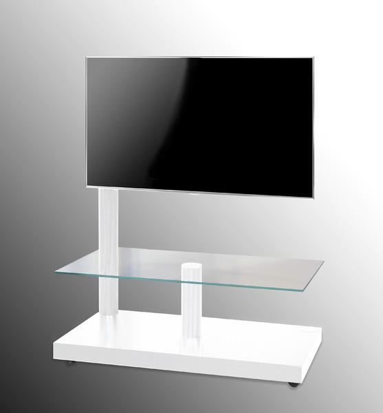 Standuri TV  Comoda TV OMB cu suport rotativ, Flag Tower Classic, Alb Comoda TV OMB cu suport rotativ, Flag Tower Classic, Alb
