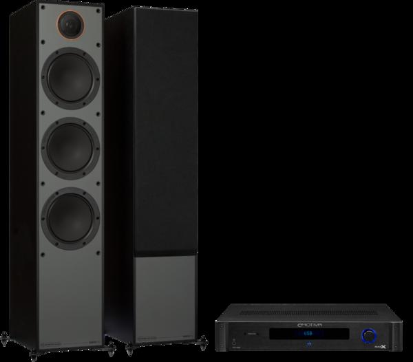 Pachete PROMO STEREO Pachet PROMO Monitor Audio Monitor 300 Black Cone + Emotiva BasX TA-100Pachet PROMO Monitor Audio Monitor 300 Black Cone + Emotiva BasX TA-100