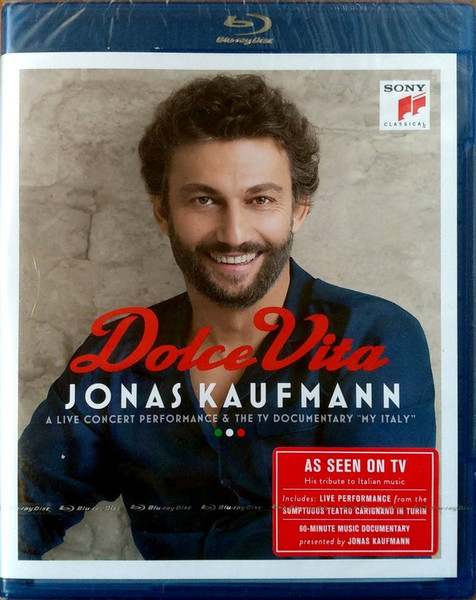 DVD & Bluray BLURAY Universal Records Jonas Kaufmann - Dolce VitaBLURAY Universal Records Jonas Kaufmann - Dolce Vita