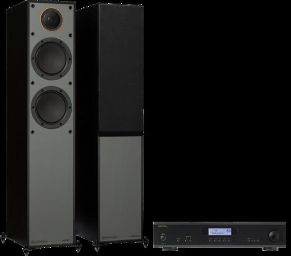 Pachete PROMO STEREO Pachet PROMO Monitor Audio Monitor 200 Black Cone + Rotel A-11Pachet PROMO Monitor Audio Monitor 200 Black Cone + Rotel A-11