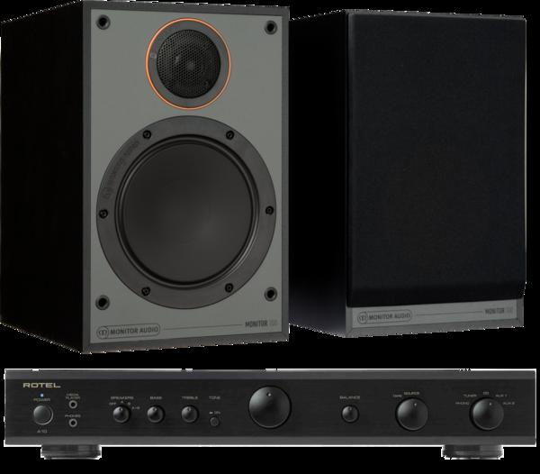 Pachete PROMO STEREO Pachet PROMO Monitor Audio Monitor 100 Black Cone + Rotel A-10Pachet PROMO Monitor Audio Monitor 100 Black Cone + Rotel A-10