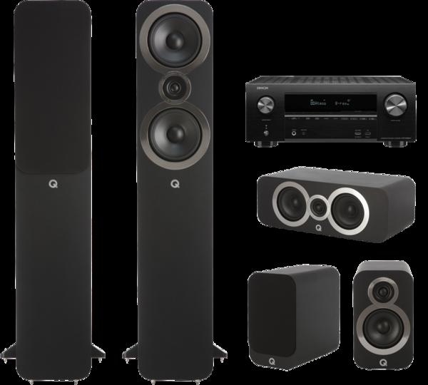 Pachete PROMO SURROUND Pachet PROMO Q Acoustics 3050i pachet 5.0 + Denon AVR-X2600HPachet PROMO Q Acoustics 3050i pachet 5.0 + Denon AVR-X2600H