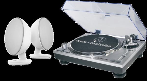 Pachete PROMO STEREO Pachet PROMO Audio-Technica AT-LP120 + KEF EggPachet PROMO Audio-Technica AT-LP120 + KEF Egg
