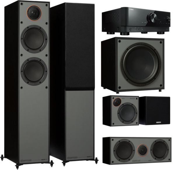 Pachete PROMO SURROUND Pachet PROMO Monitor Audio Monitor 200 Black Cone pachet 5.1 + Yamaha RX-V4APachet PROMO Monitor Audio Monitor 200 Black Cone pachet 5.1 + Yamaha RX-V4A