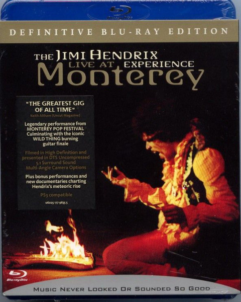 DVD & Bluray BLURAY Universal Records The Jimi Hendrix Experience - Live At MontereyBLURAY Universal Records The Jimi Hendrix Experience - Live At Monterey
