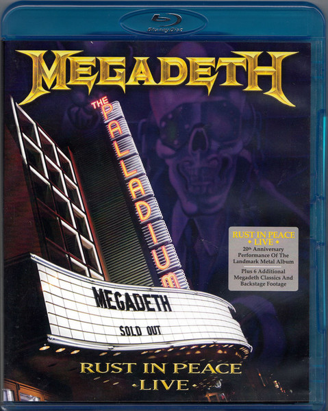 DVD & Bluray BLURAY Universal Music Romania Megadeth - Rust In Peace LiveBLURAY Universal Music Romania Megadeth - Rust In Peace Live