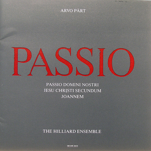 Muzica CD CD ECM Records Arvo Part: PassioCD ECM Records Arvo Part: Passio