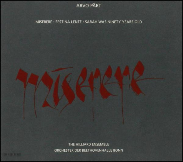 Muzica CD CD ECM Records Arvo Part: MiserereCD ECM Records Arvo Part: Miserere