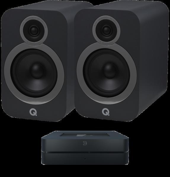 Pachete PROMO STEREO Pachet PROMO Q Acoustics 3030i + Bluesound Powernode 2i v2Pachet PROMO Q Acoustics 3030i + Bluesound Powernode 2i v2
