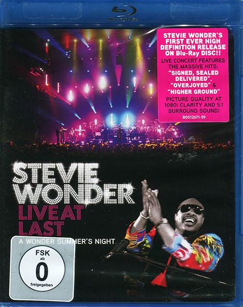 DVD & Bluray BLURAY Universal Records Stevie Wonder - Live At Last (A Wonder Summer's Night)BLURAY Universal Records Stevie Wonder - Live At Last (A Wonder Summer's Night)