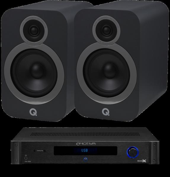 Pachete PROMO STEREO Pachet PROMO Q Acoustics 3030i + Emotiva BasX TA-100Pachet PROMO Q Acoustics 3030i + Emotiva BasX TA-100