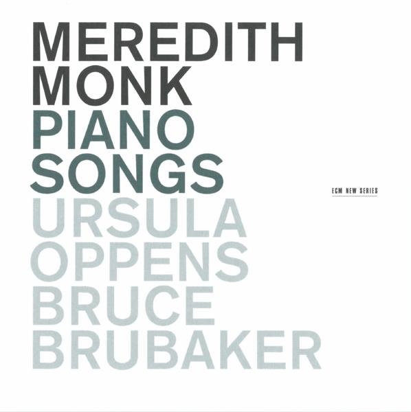 Muzica CD CD ECM Records Meredith Monk: Piano SongsCD ECM Records Meredith Monk: Piano Songs