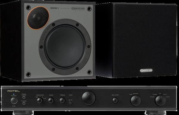 Pachete PROMO STEREO Pachet PROMO Monitor Audio Monitor 50 Black Cone + Rotel A-10Pachet PROMO Monitor Audio Monitor 50 Black Cone + Rotel A-10