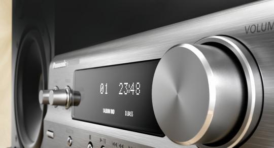 Panasonic Hi-Fi CD/Streaming Micro Music System (silver) - E B ...