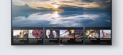 Imagine cu SD80 Ultra HD 4K cu ecran curbat şi Android TV