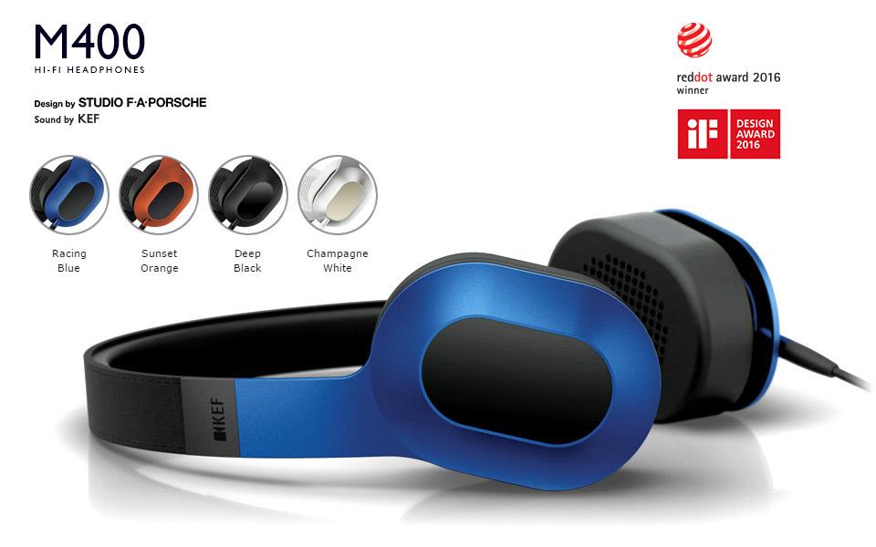 KEF M400 Hi-Fi Headphones - Reddot Award Winner