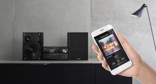 Panasonic Micro 120w Hi-FI Music System (black) - E B Marsh & Son Ltd