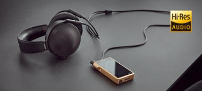 Imagine cu Dispozitiv Walkman® premium cu sunet de înaltă rezoluție
