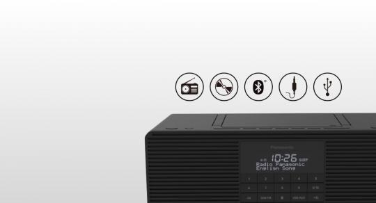 Panasonic RX-D70BT radio Portatile Analogico e digitale Nero