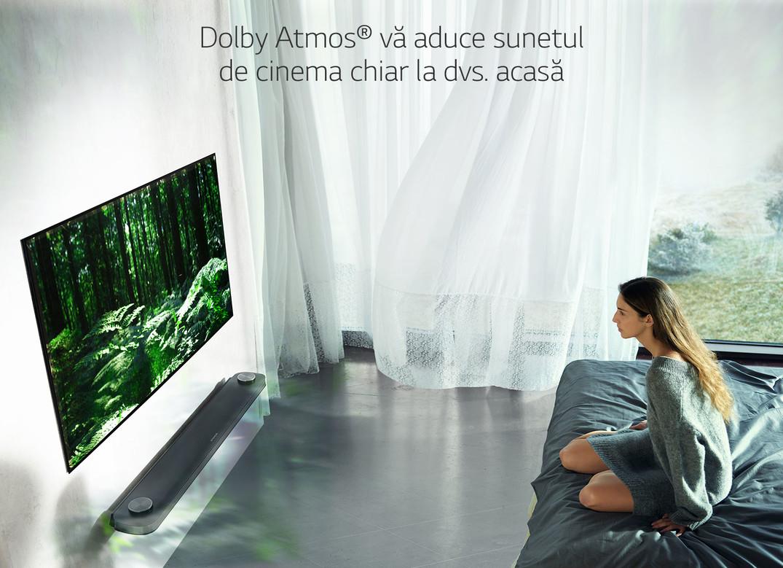 Dolby Atmos® vă aduce sunetul de cinema chiar la dvs. acasă