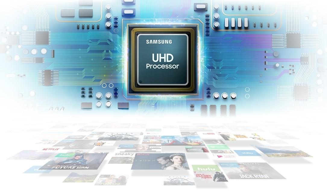 Procesor UHD, oferă o calitate superioară imaginii.