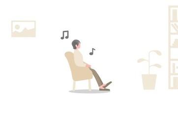 Ilustrație cu o persoană ascultând muzică așteptând