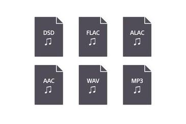 Sigle de formate audio compatibile