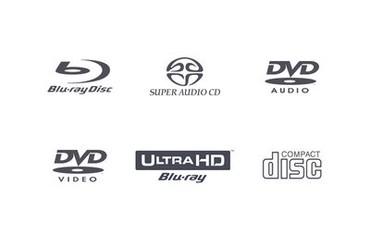 Sigle de formate de disc compatibile