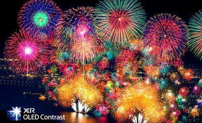 Artificii, demonstrând contrastul extrem și profunzimea realistă